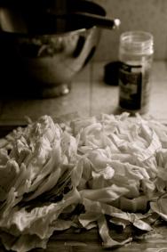 Cabbage (B&W)