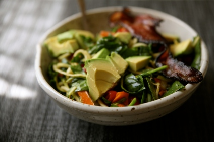 Veggie Salad with Bacon