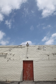 Red Door, White Brick, Blue Sky