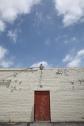 Red Door, White Brick, Blue Sky